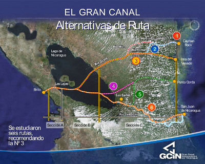 Possible canal routes