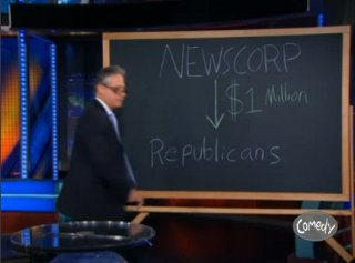 Jon Stewart shows the connection between Fox and the Pepublican Party