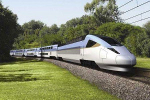 Artist's conception of Mexican high-speed trains